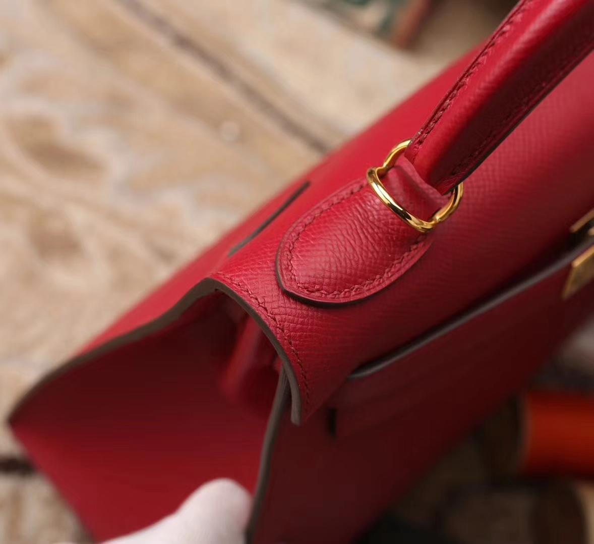 Hermes Kelly 28 K1 石榴红 原厂御用顶级Epsom皮 外缝 金扣 现货