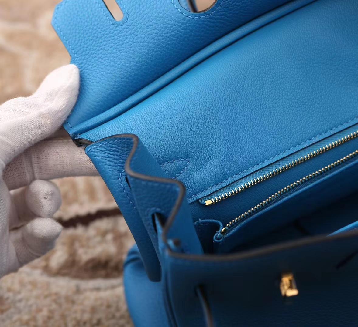Hermes爱马仕 Birkin 25 B3 坦桑尼亚蓝 原厂御用顶级小牛皮金扣 现货