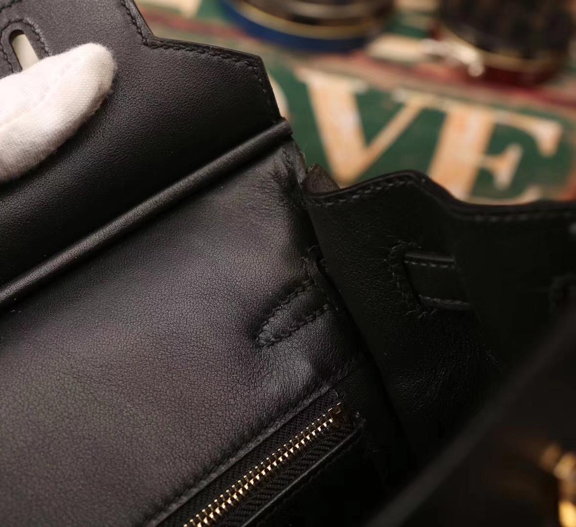 Hermes爱马仕 Birkin 25 CK89 黑色 原厂御用顶级Swift皮 金扣