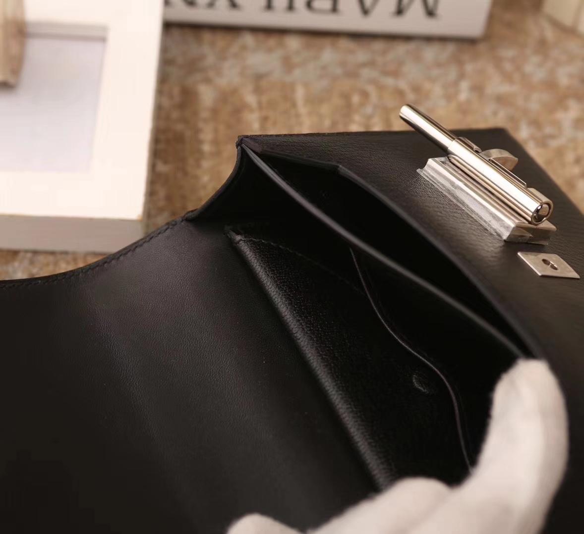 Hermes爱马仕 Verrou 机枪包 插销包 黑色 原厂御用顶级山羊皮 现货