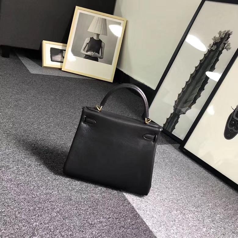 Hermes爱马仕 CK89 黑色 原厂御用顶级小牛皮 Kelly  28 内缝 金扣
