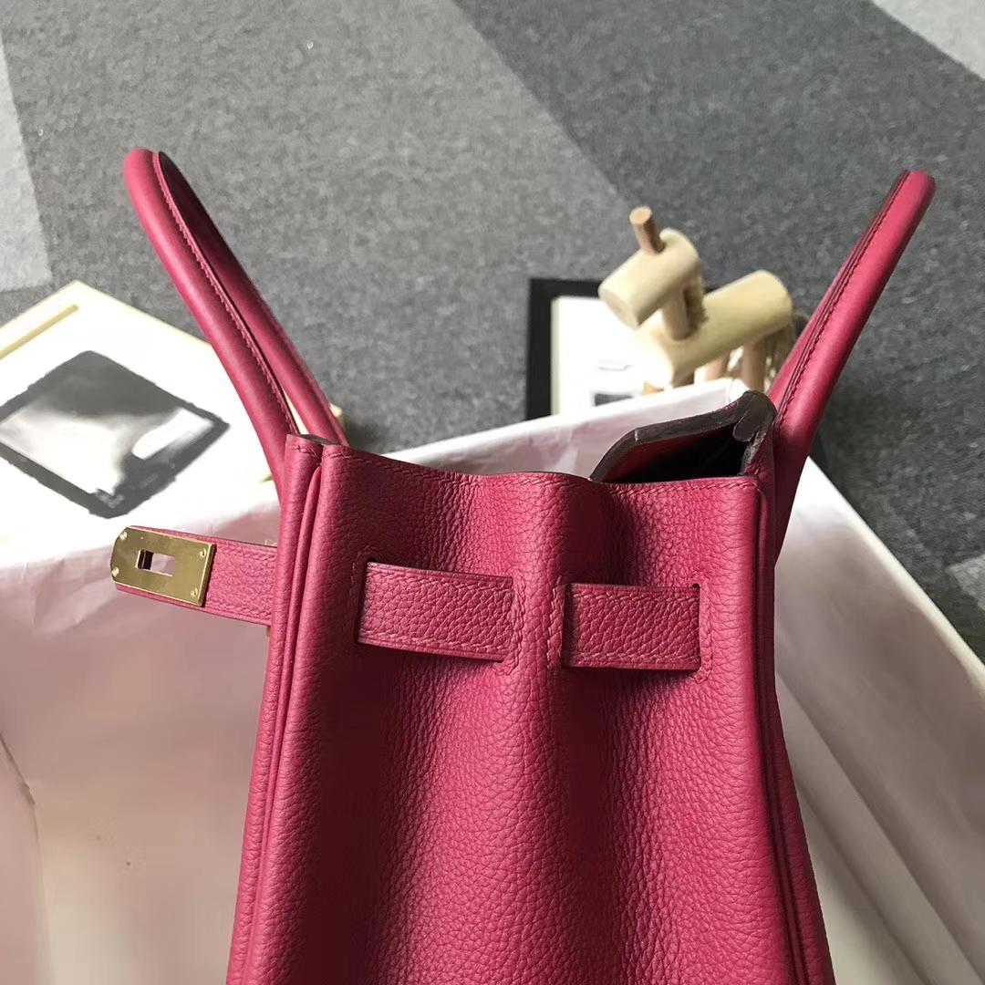 Hermès(爱马仕)K1 石榴红 原厂御用顶级小牛皮 Birkin 30 金扣 银扣 现货