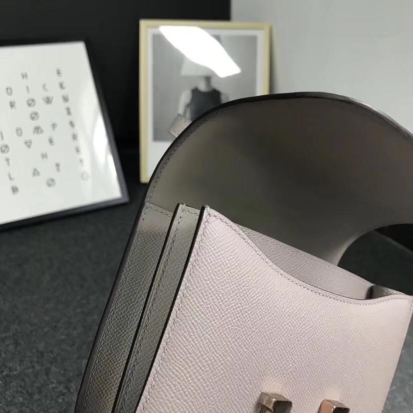 Hermès(爱马仕)M8 沥青灰 原厂御用顶级Epsom 皮 Constance 19 玫瑰金扣