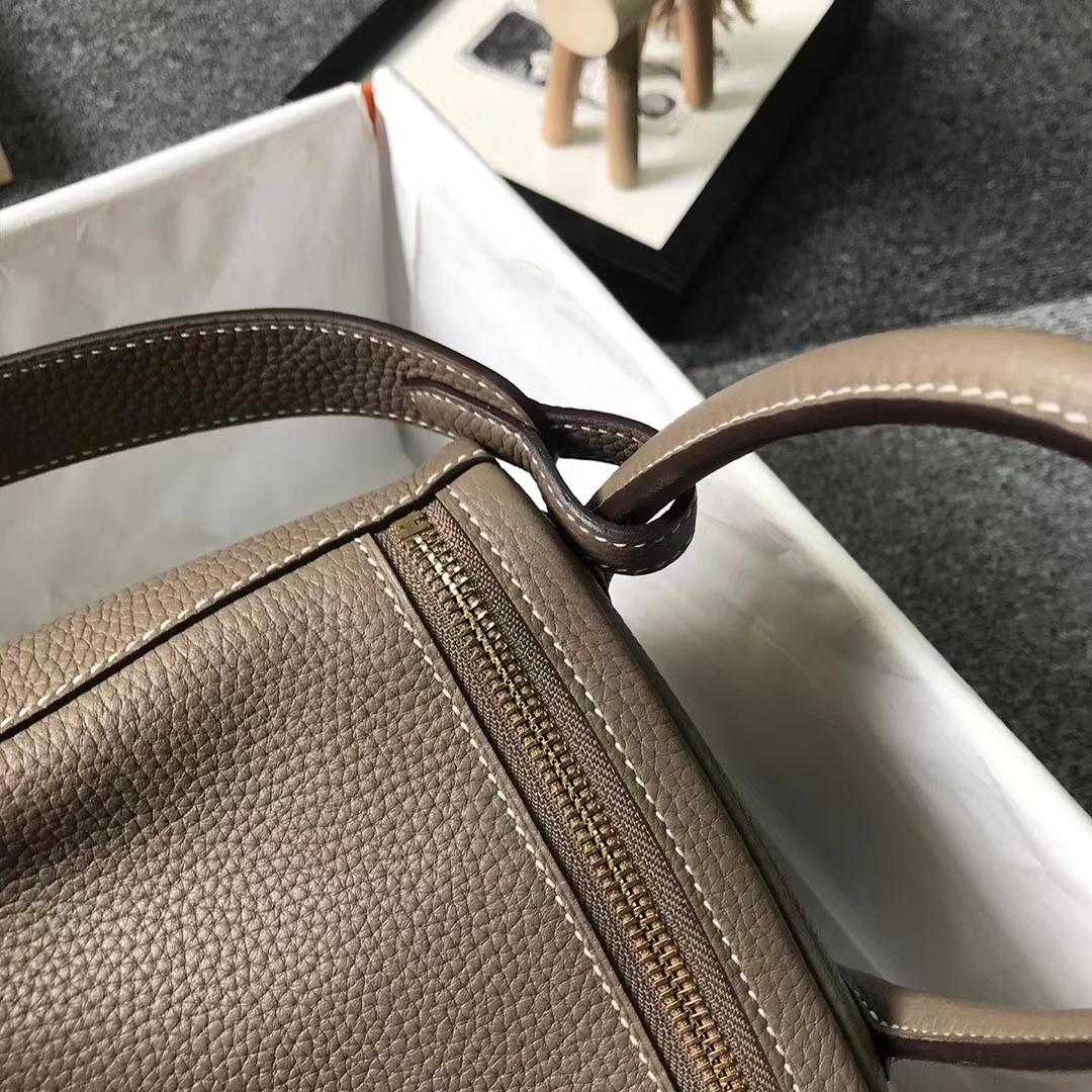 Hermès(爱马仕)CK18大象灰 原厂御用顶级TC 皮 Lindy 30 金扣