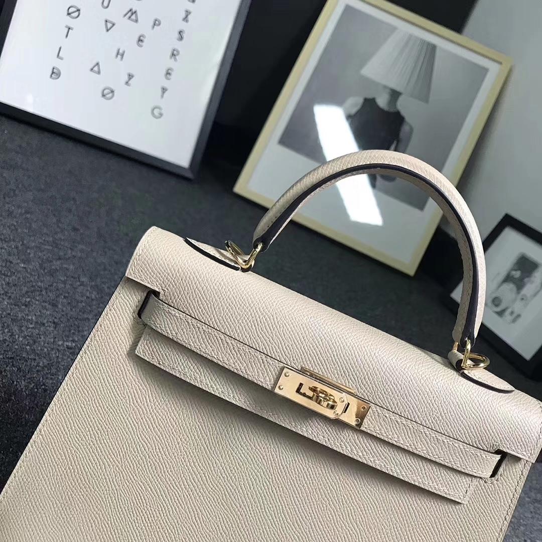 Hermès(爱马仕)S2 风衣灰 原厂御用顶级Epsom 皮 Kelly 25 外缝 金扣 现货