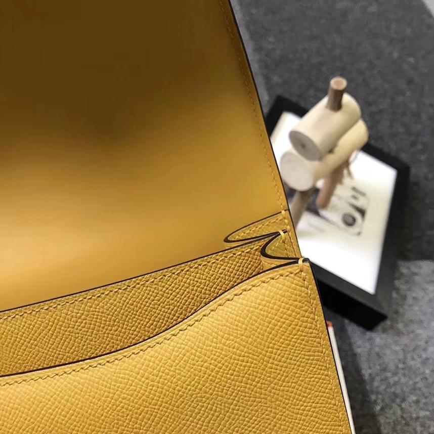 Hermès(爱马仕)9D琥珀黄 epsom皮 Constance 19 金扣 全手工 现货