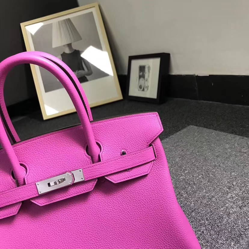Hermès(爱马仕)9I 玉兰粉 原厂御用顶级小牛皮 Birkin 30 银扣