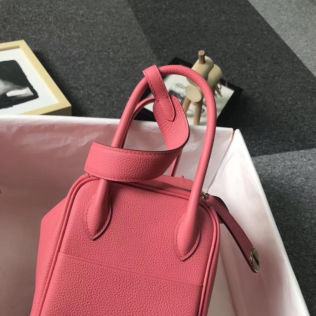 Hermès(爱马仕)8W 新唇膏粉 原厂御用顶级小牛皮 Lindy 26 金扣