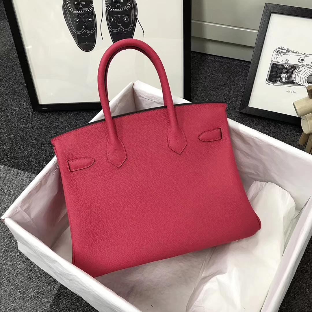 Hermès(爱马仕)I6 极致粉 原厂御用顶级小牛皮 Birkin 30 金扣 现货