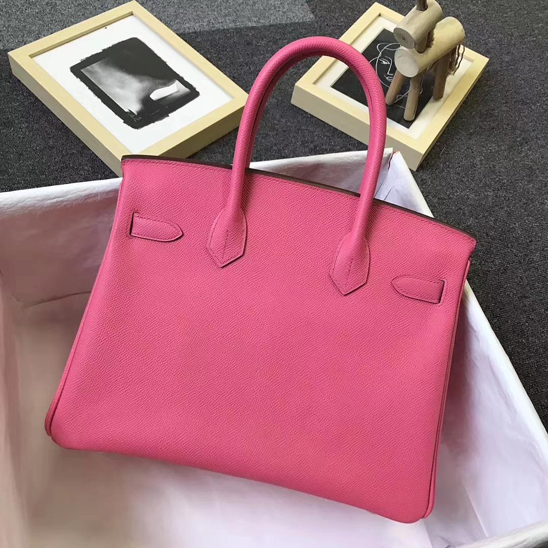 Hermès(爱马仕)8W新唇膏粉 原厂御用顶级Epsom 皮 Birkin 30 金扣