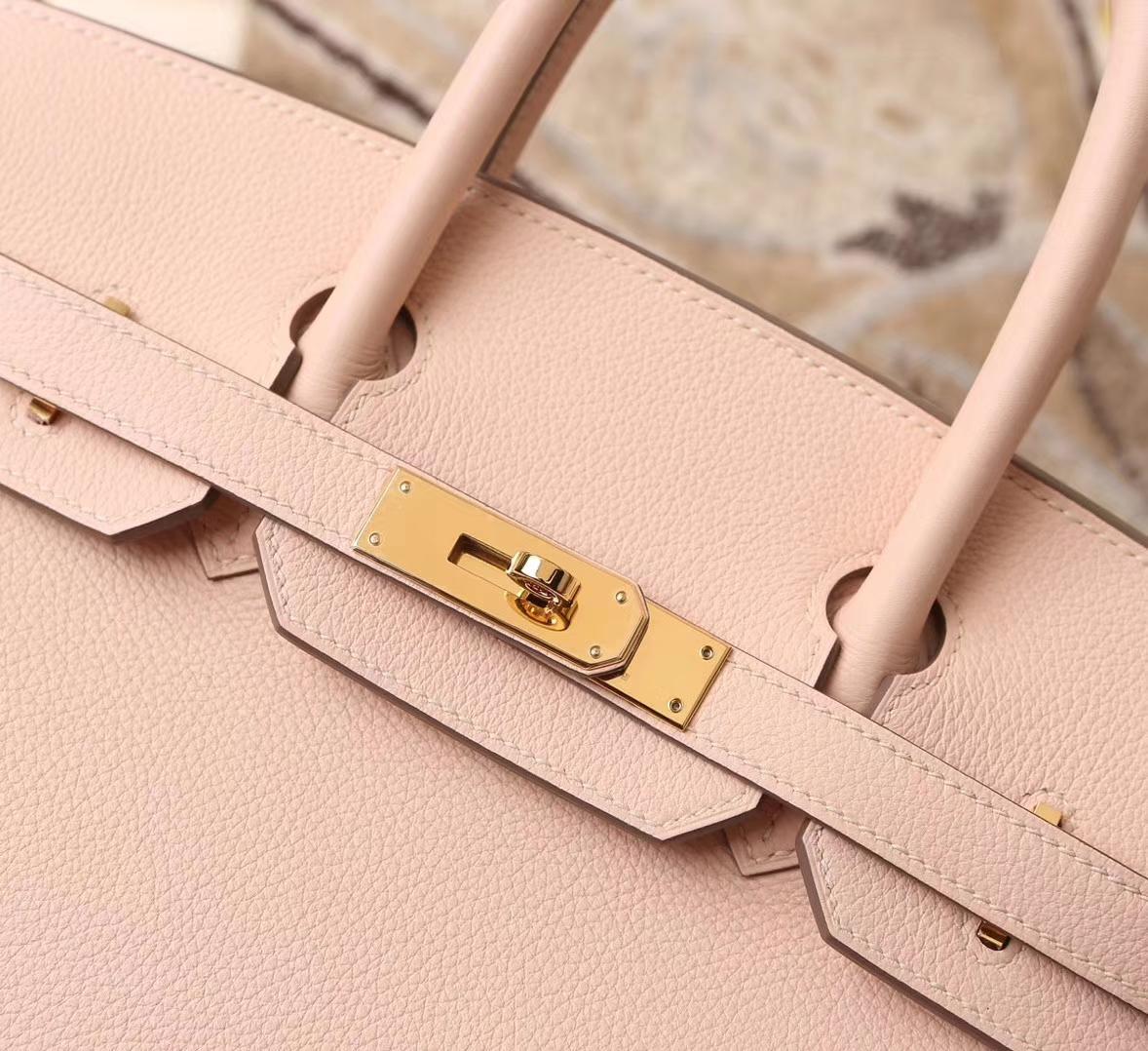 Hermès(爱马仕)P1 蔷薇粉 原厂御用顶级小牛皮 Birkin 30 金扣 银扣 现货