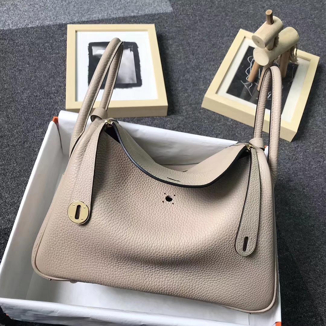 Hermès(爱马仕)S2 风衣灰 原厂御用顶级TC 皮 Lindy 30 金扣