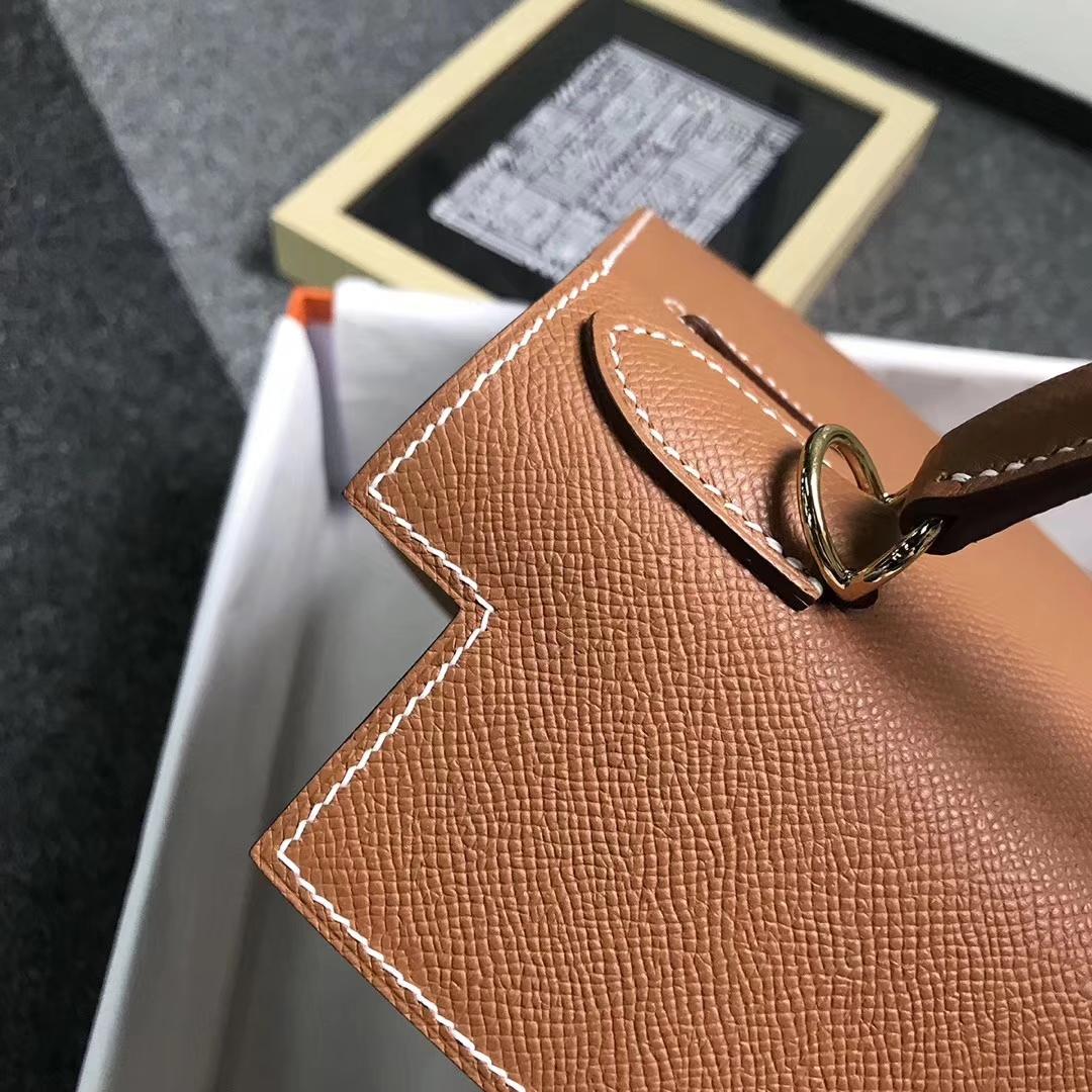 Hermès(爱马仕)金棕色 原厂御用顶级Epsom 皮 Kelly 28 外缝 现货