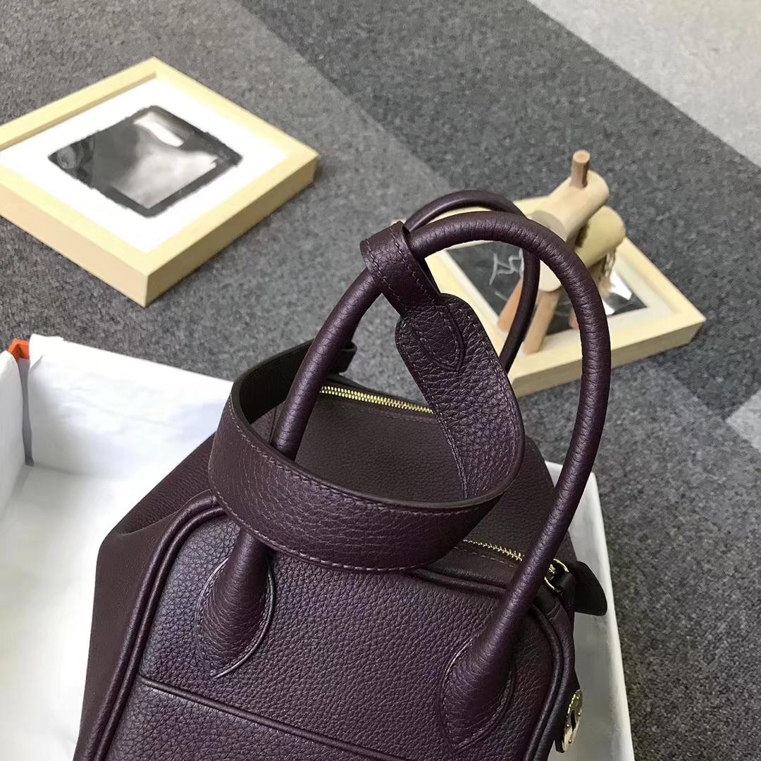 Hermès(爱马仕)波尔多酒红 原厂御用顶级小牛皮 Lindy 26 金扣