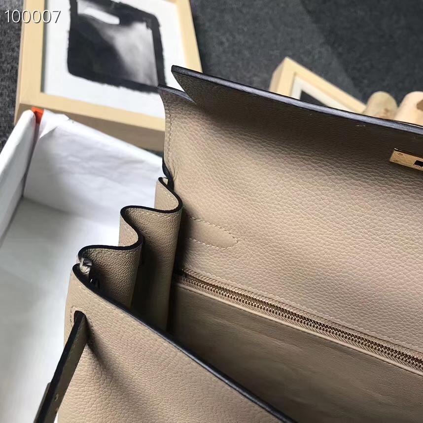 Hermès(爱马仕)S2 风衣灰 原厂御用顶级小牛皮 Kelly 28 金扣 现货