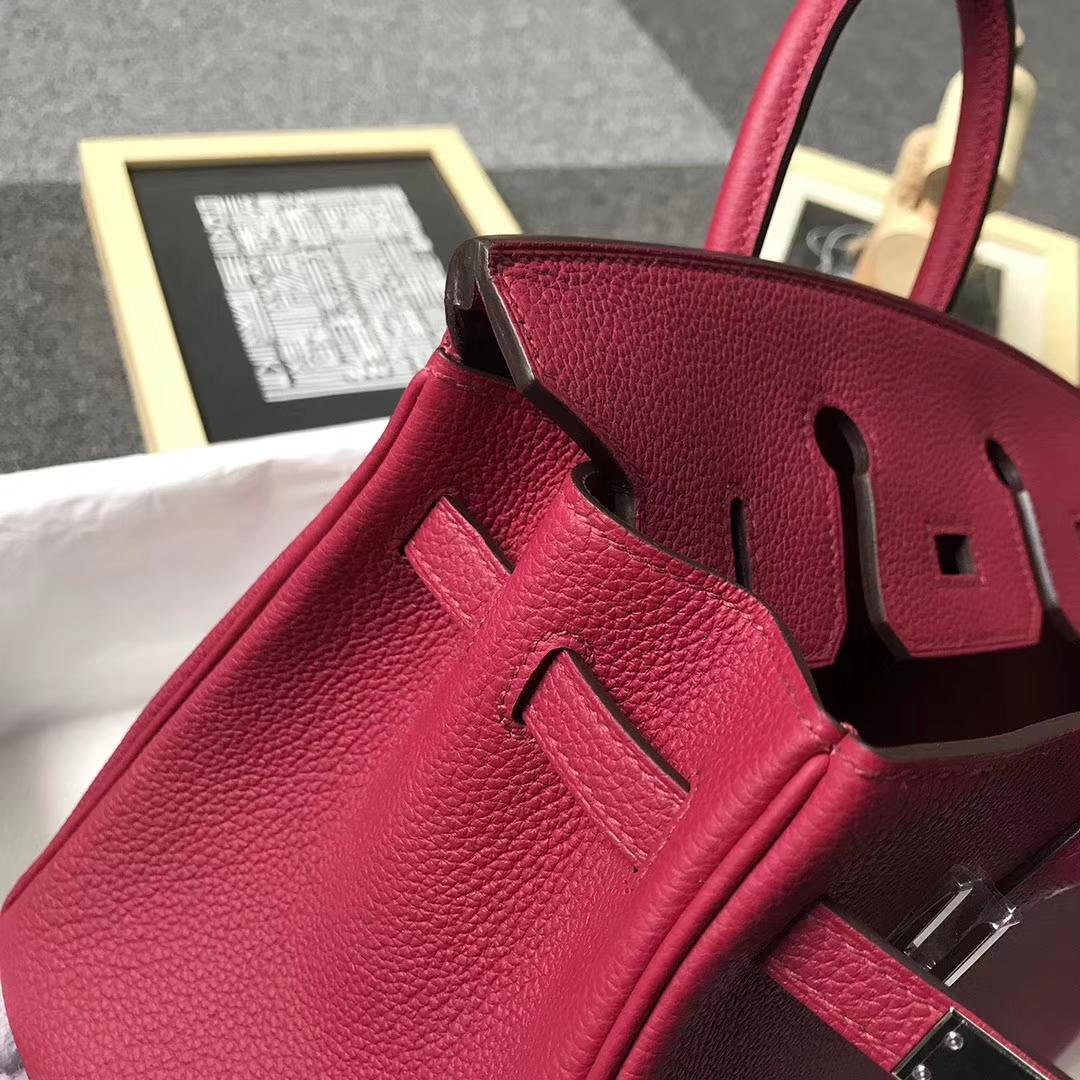 Hermès(爱马仕)K1 石榴红 原厂御用顶级小牛皮 Birkin 25 银扣 现货
