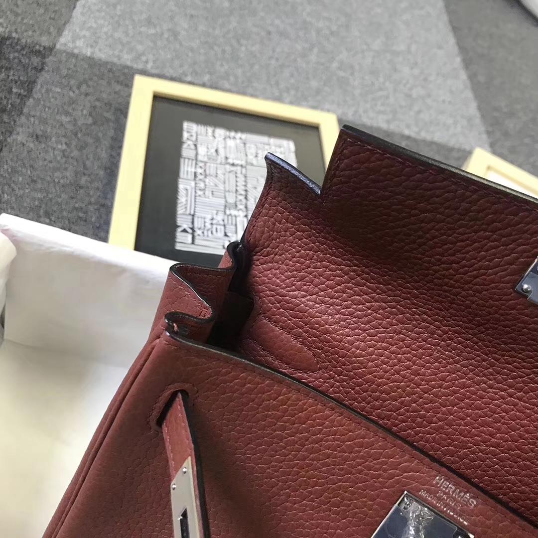 Hermès(爱马仕)6C古铜色 原厂御用顶级TC 皮 Kelly  ado 20 银扣