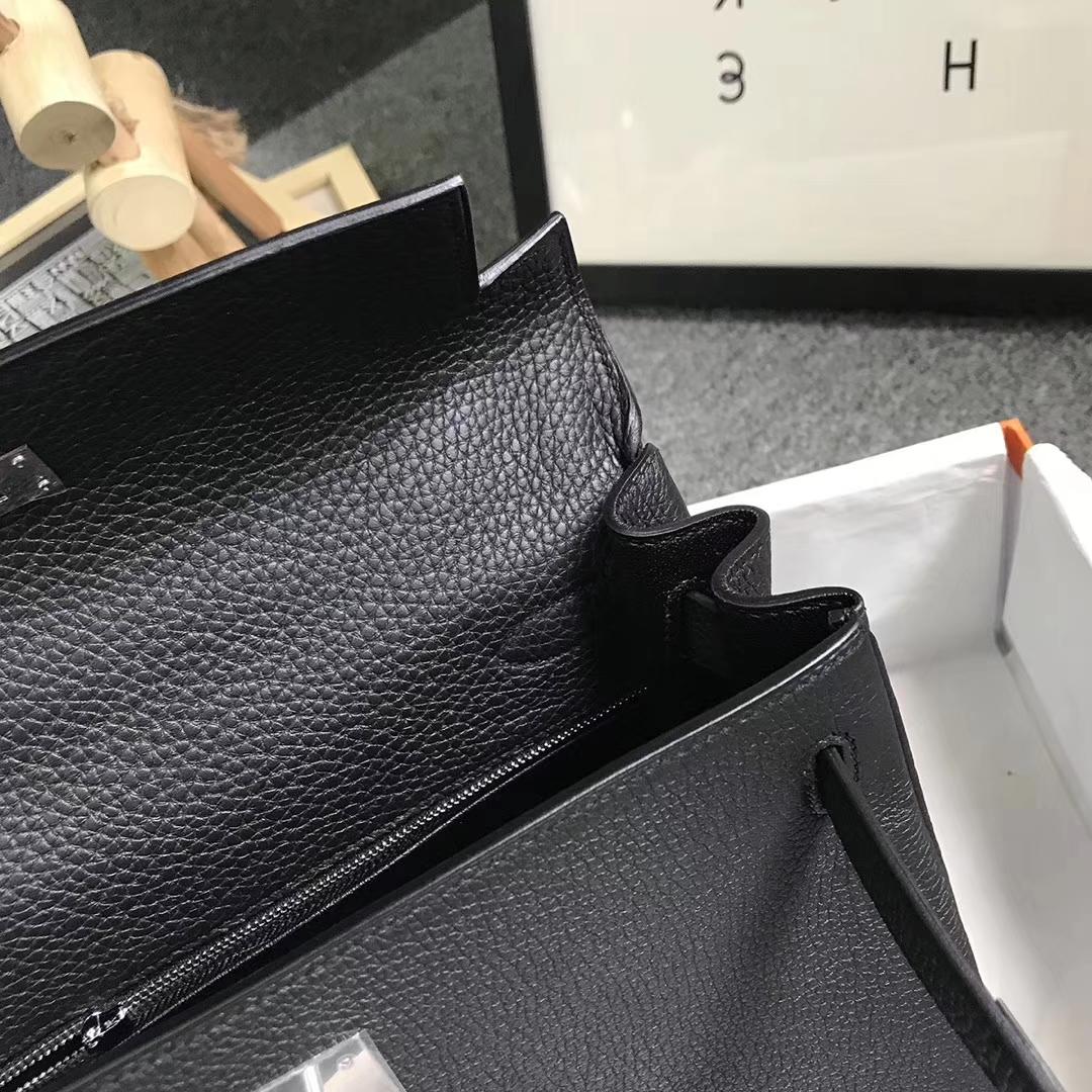 Hermès(爱马仕)CK89 黑色 原厂御用顶级小牛皮 Kelly 28 银扣 现货