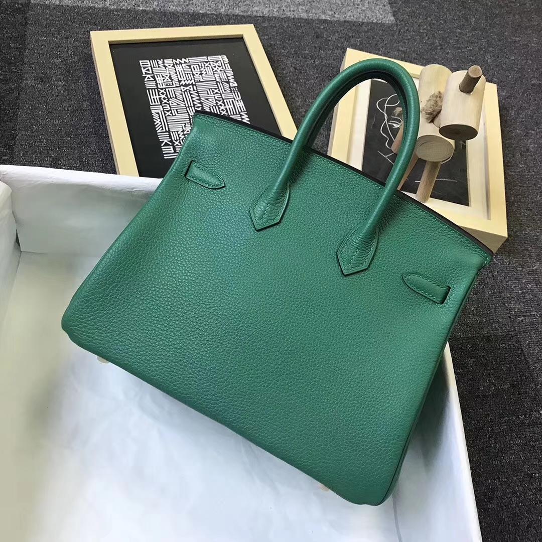 Hermès(爱马仕)U4 丝绒绿 原厂御用顶级小牛皮 Birkin 25 金扣