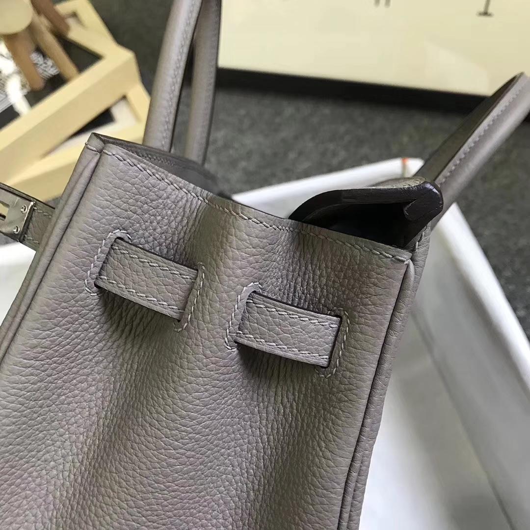 Hermès(爱马仕)M8 沥青灰 原厂御用顶级小牛皮 Birkin 25 银扣 现货
