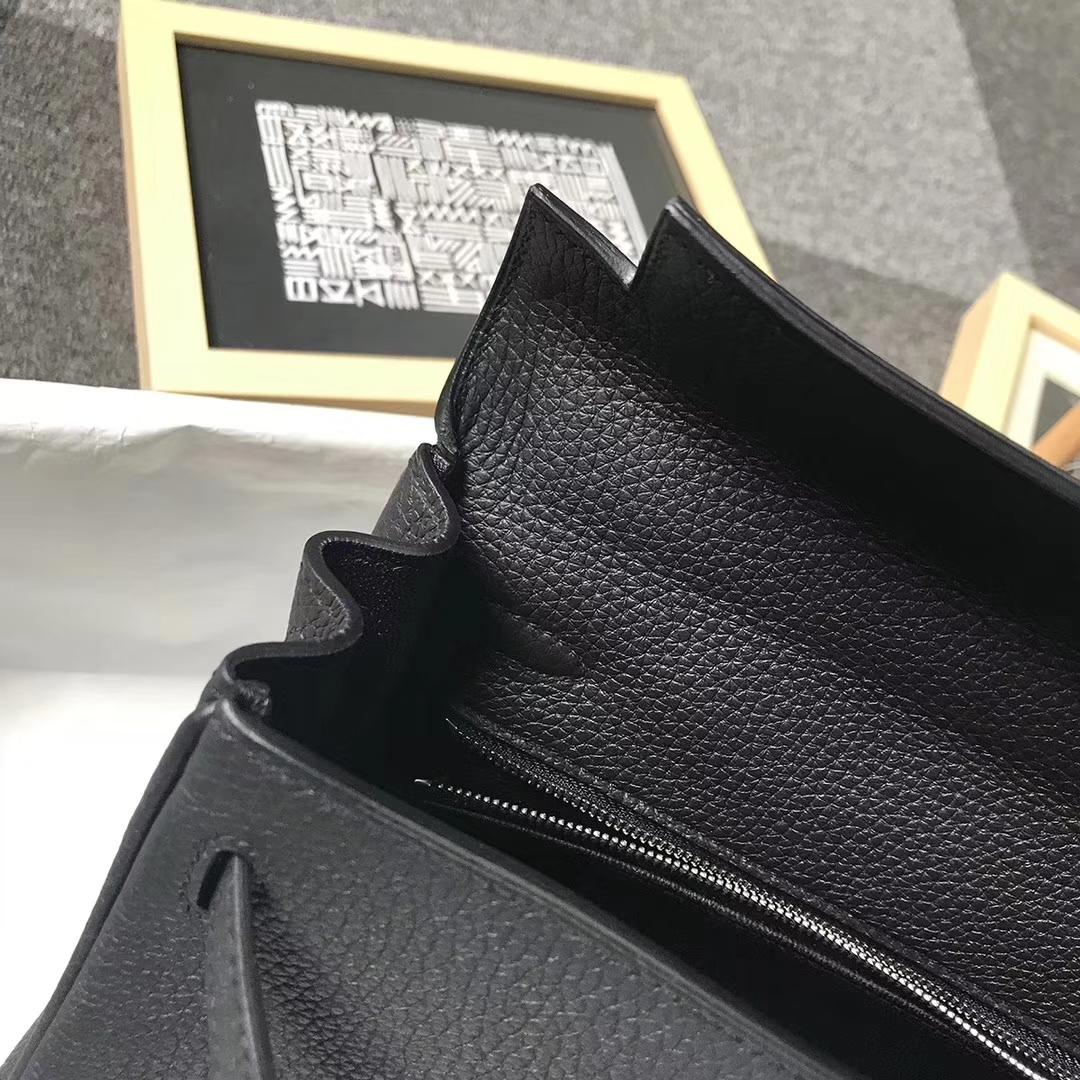 Hermès(爱马仕)CK89黑色 togo小牛皮 Kelly25 银扣 全手工 现货