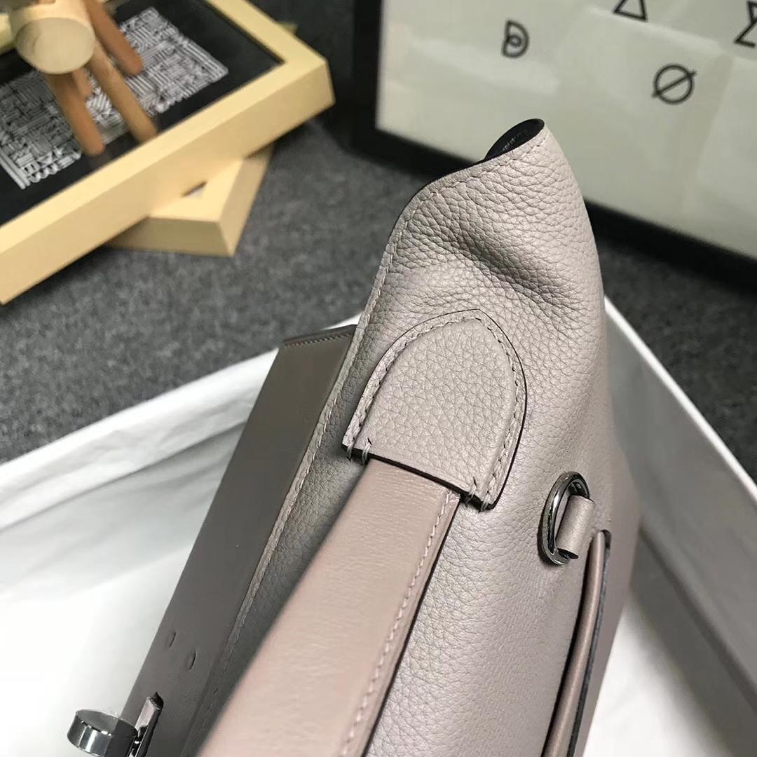 Hermès(爱马仕)M8 沥青灰 原厂御用顶级小牛皮拼Swift 皮 2424 银扣