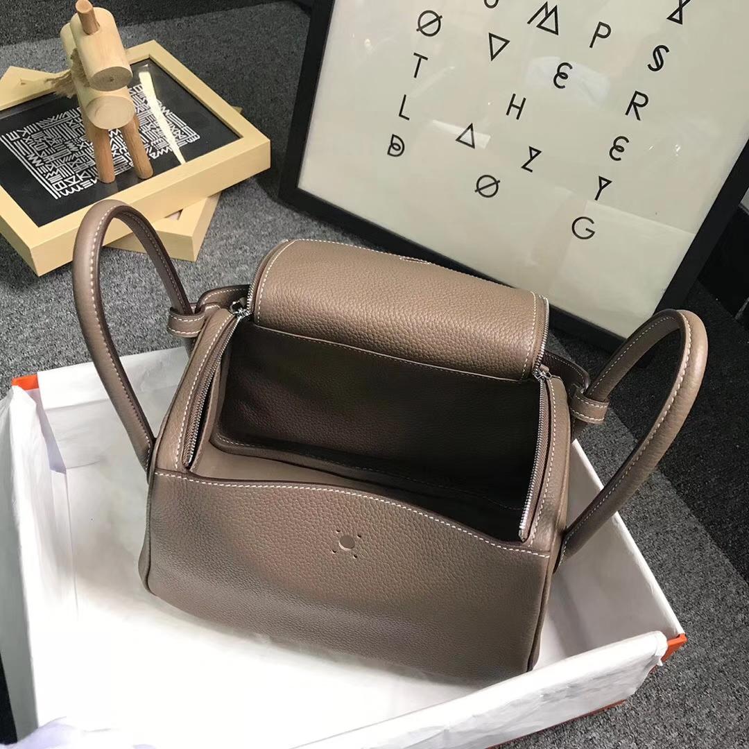 Hermès(爱马仕)CK18 大象灰 原厂御用顶级TC 皮 Lindy 26 银扣 现货