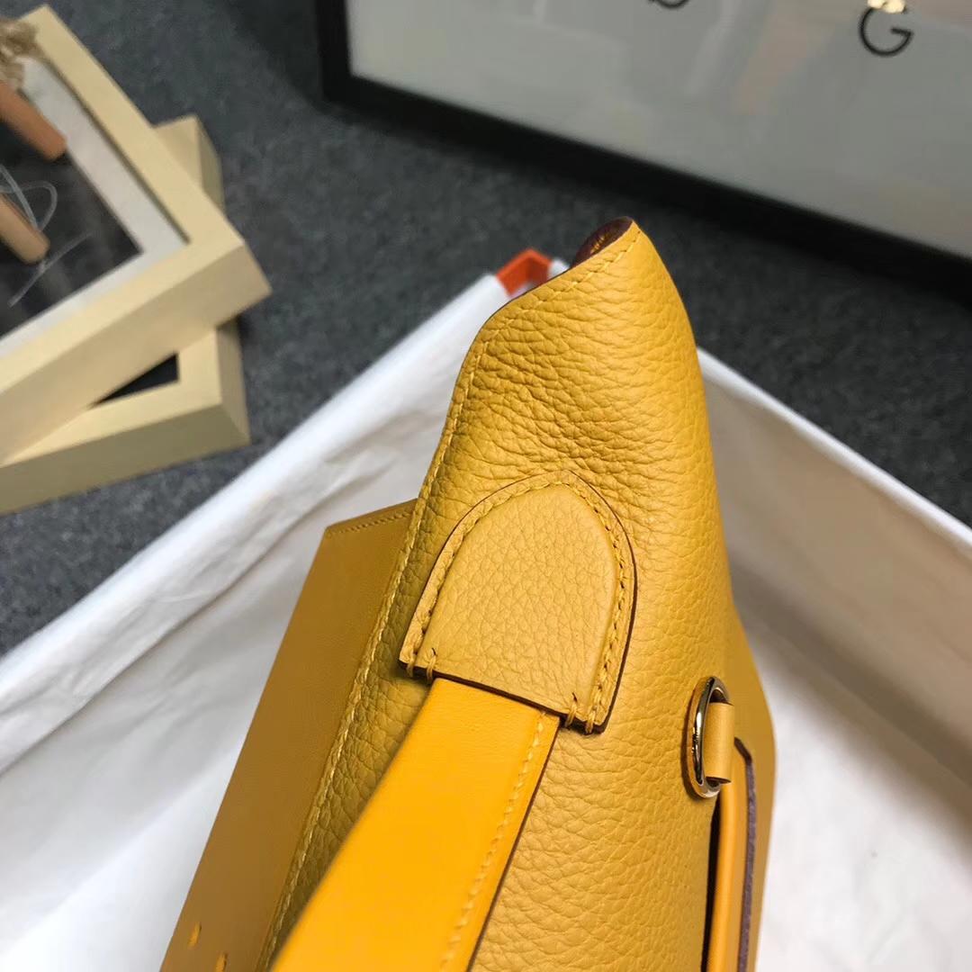 Hermès(爱马仕)琥珀黄 原厂御用顶级小牛皮拼Swift 皮 2424 金扣