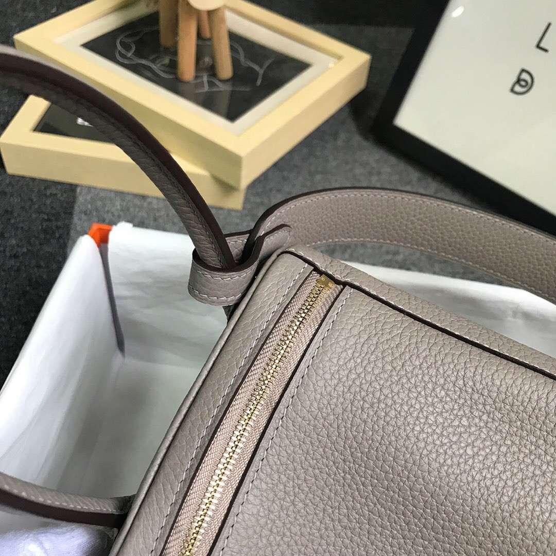 Hermès(爱马仕)M8 沥青灰 原厂御用顶级TC 皮 Lindy 26 金扣