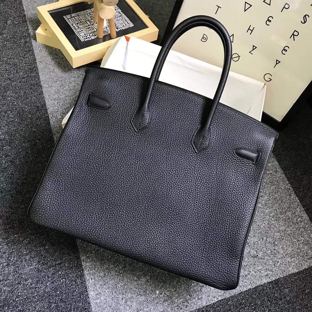Hermès(爱马仕)CK89 黑色 原厂御用顶级小牛皮 Birkin 35 金扣 现货