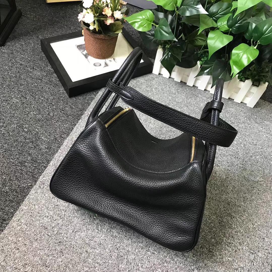 Hermès(爱马仕)CK89 黑色 原厂御用顶级TC 皮 Lindy 26 金扣 现货