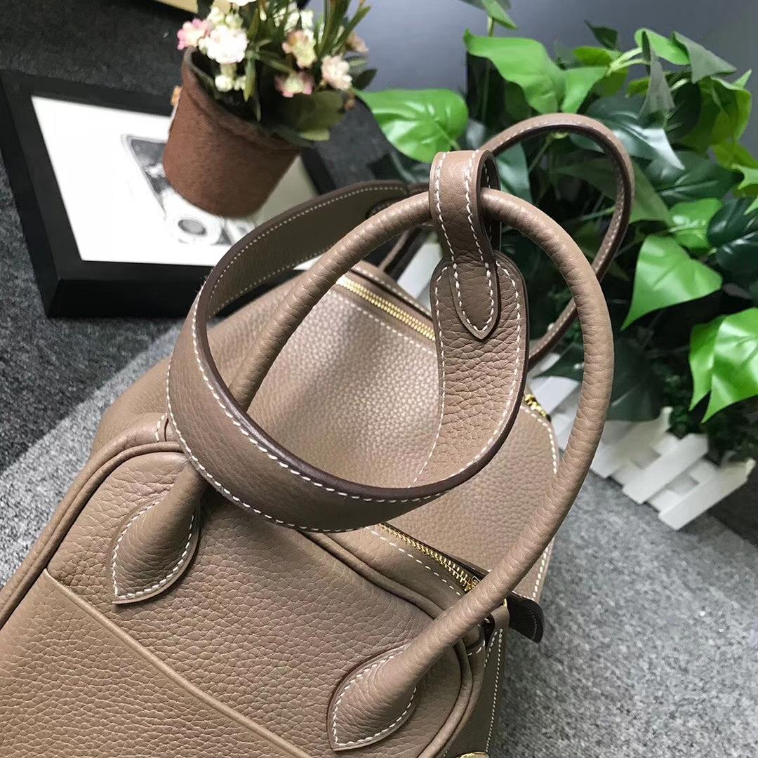 Hermès(爱马仕)CK18 大象灰 原厂御用顶级TC 皮 Lindy 26 金扣 现货