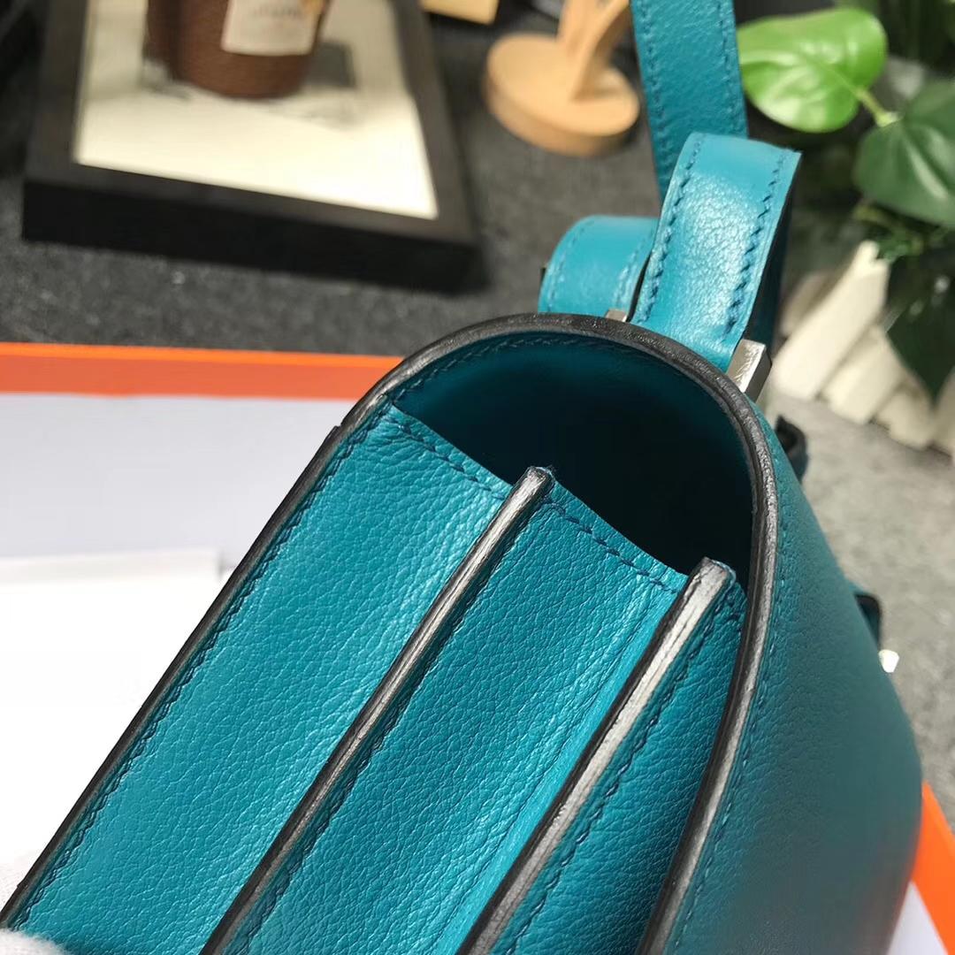 Hermès(爱马仕)7F孔雀蓝 原厂御用顶级Ever Color皮 2002-20 现货 20cm