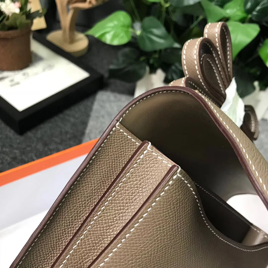 Hermès(爱马仕)CK18 大象灰 原厂御用顶级Epsom 皮 Constance 19 金扣 现货