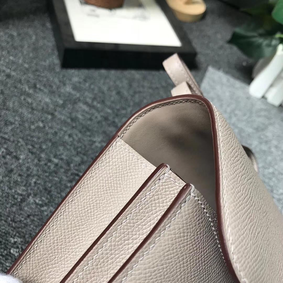 Hermès(爱马仕)M8沥青灰 原厂御用顶级Epsom 皮 Constance 19 银扣 现货