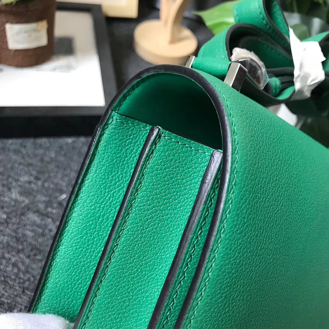 Hermès(爱马仕)U4丝绒绿 原厂御用顶级Ever Color 皮 2002-20 现货