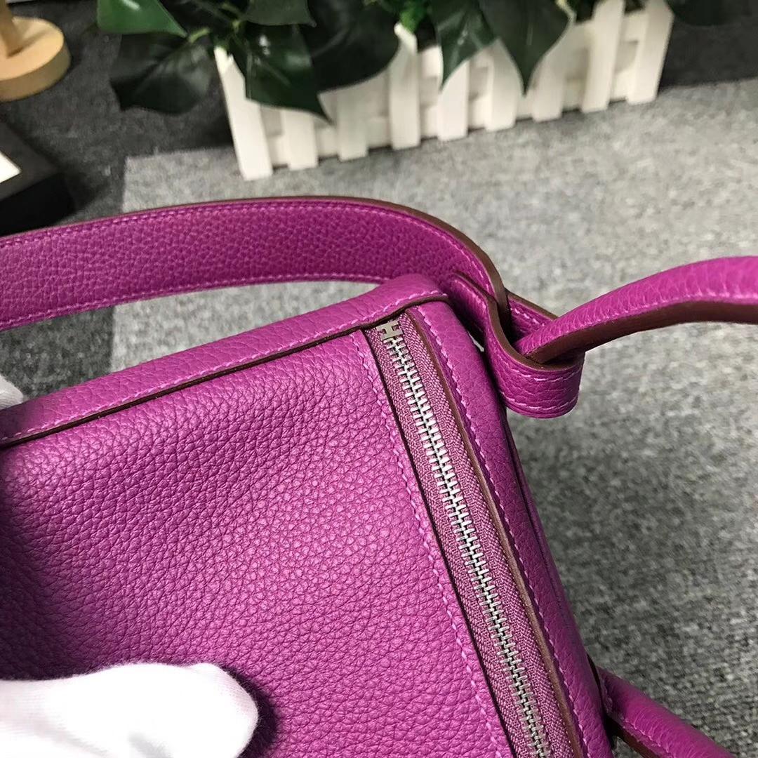 Hermès(爱马仕)P9 海葵紫 原厂御用顶级小牛皮 Lindy 26 银扣 现货