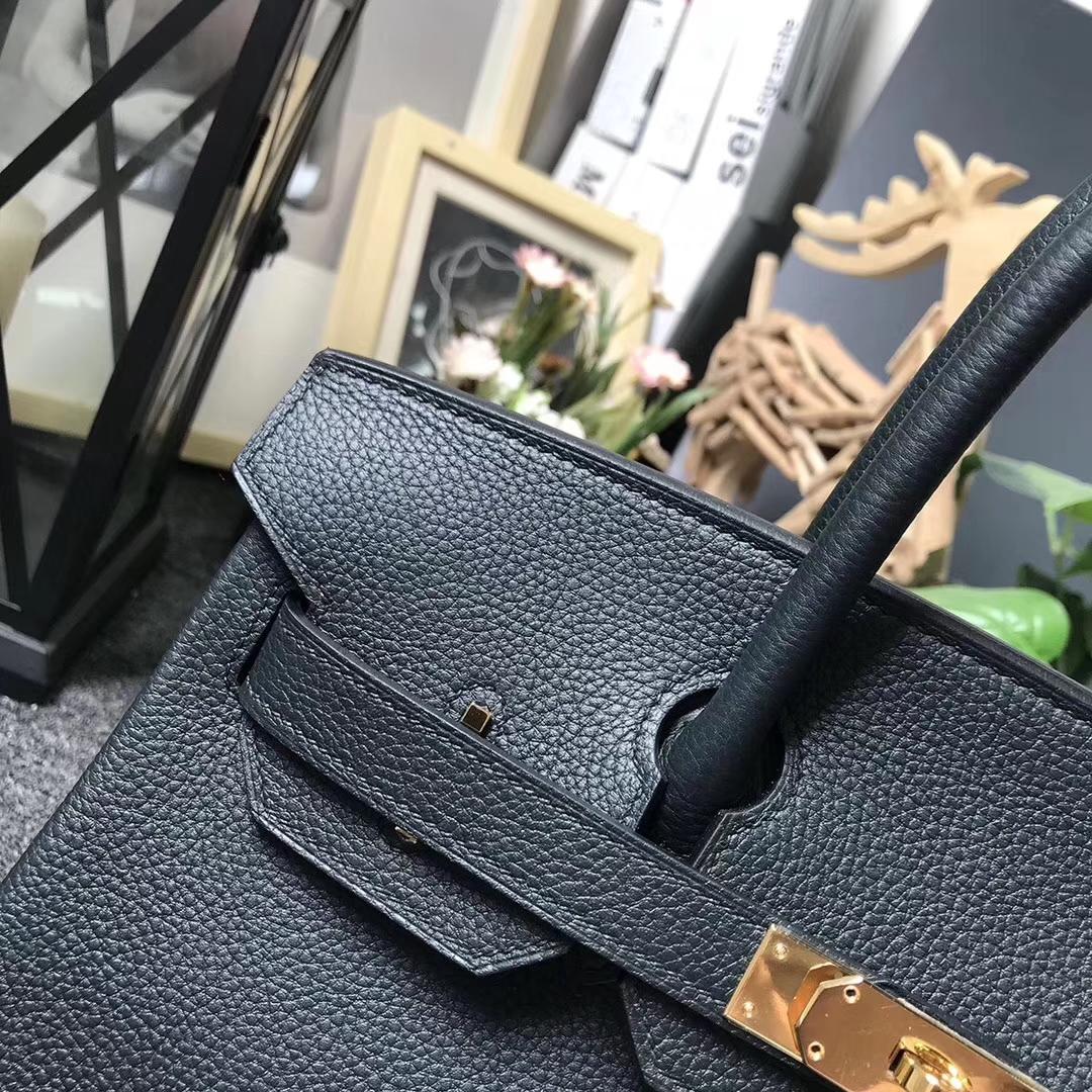 Hermès(爱马仕)6O柏树绿 原厂御用顶级小牛皮 Birkin 30 金扣