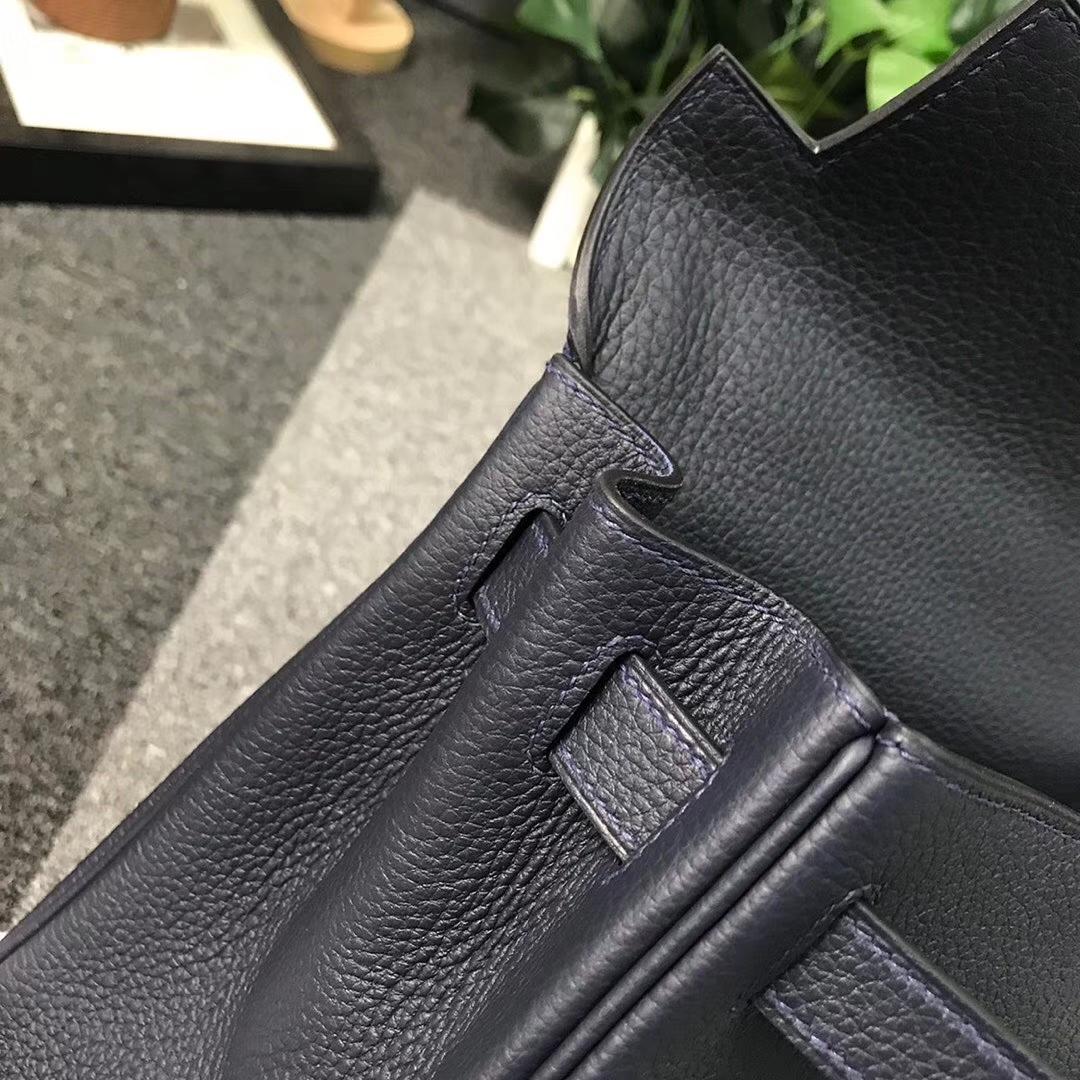 Hermès(爱马仕)午夜蓝 原厂御用顶级小牛皮 Kelly 28 银扣