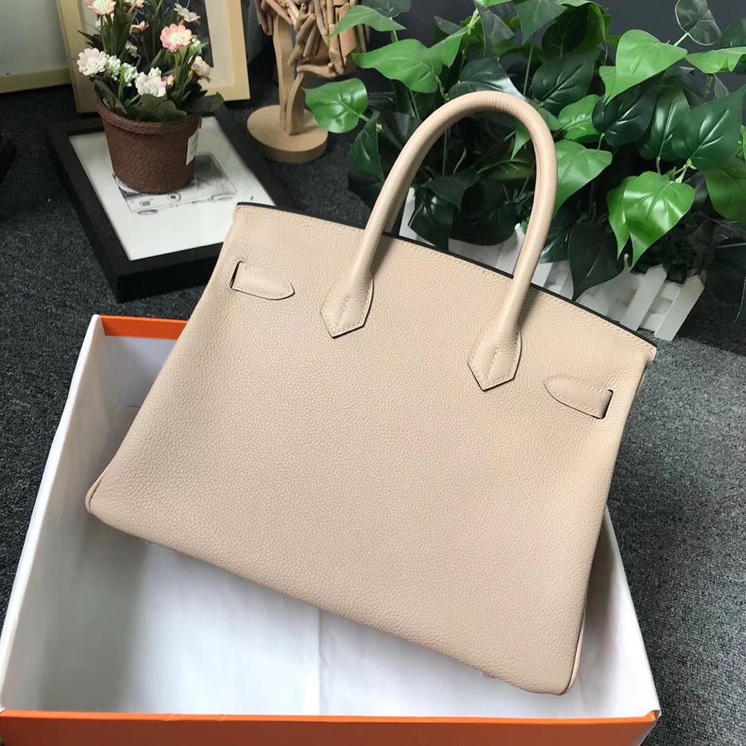 Hermès(爱马仕)S2 风衣灰 原厂御用顶级小牛皮 Birkin 30 银扣 现货