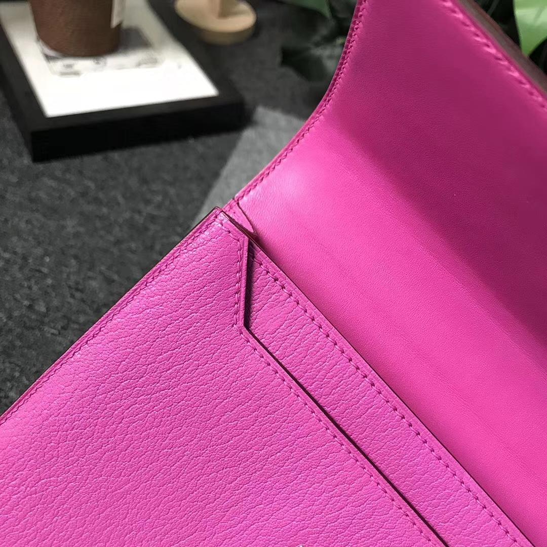 Hermès(爱马仕)9I 玉兰粉 原厂御用顶级山羊皮 Verrou 插销包