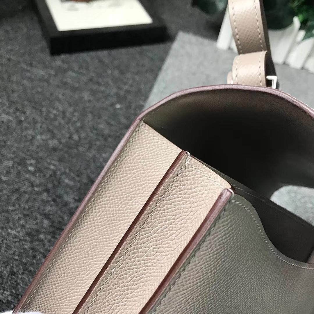 Hermès(爱马仕)M8 沥青灰 原厂御用顶级Epsom 皮 Constance 24 银扣