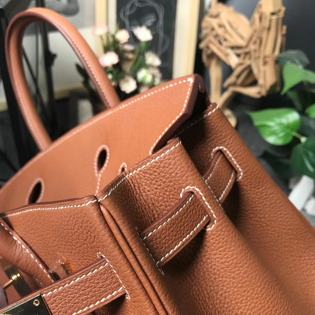 Hermès(爱马仕)C37 金棕色 原厂御用顶级小牛皮 Birkin 30 金扣 现货