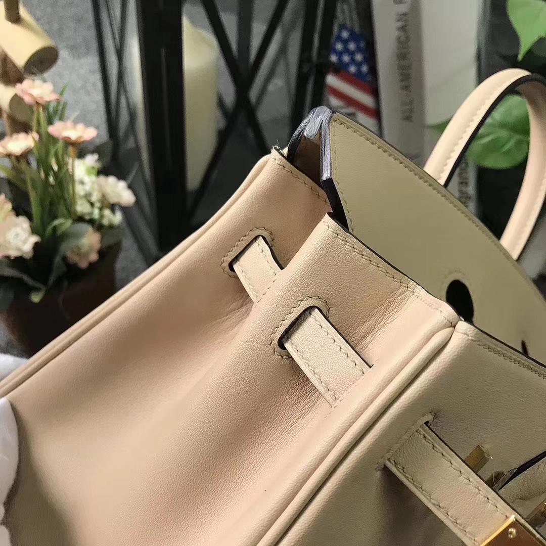 Hermès(爱马仕)CK81 斑鸠灰 原厂御用顶级Swift 皮 Birkin 25 金扣