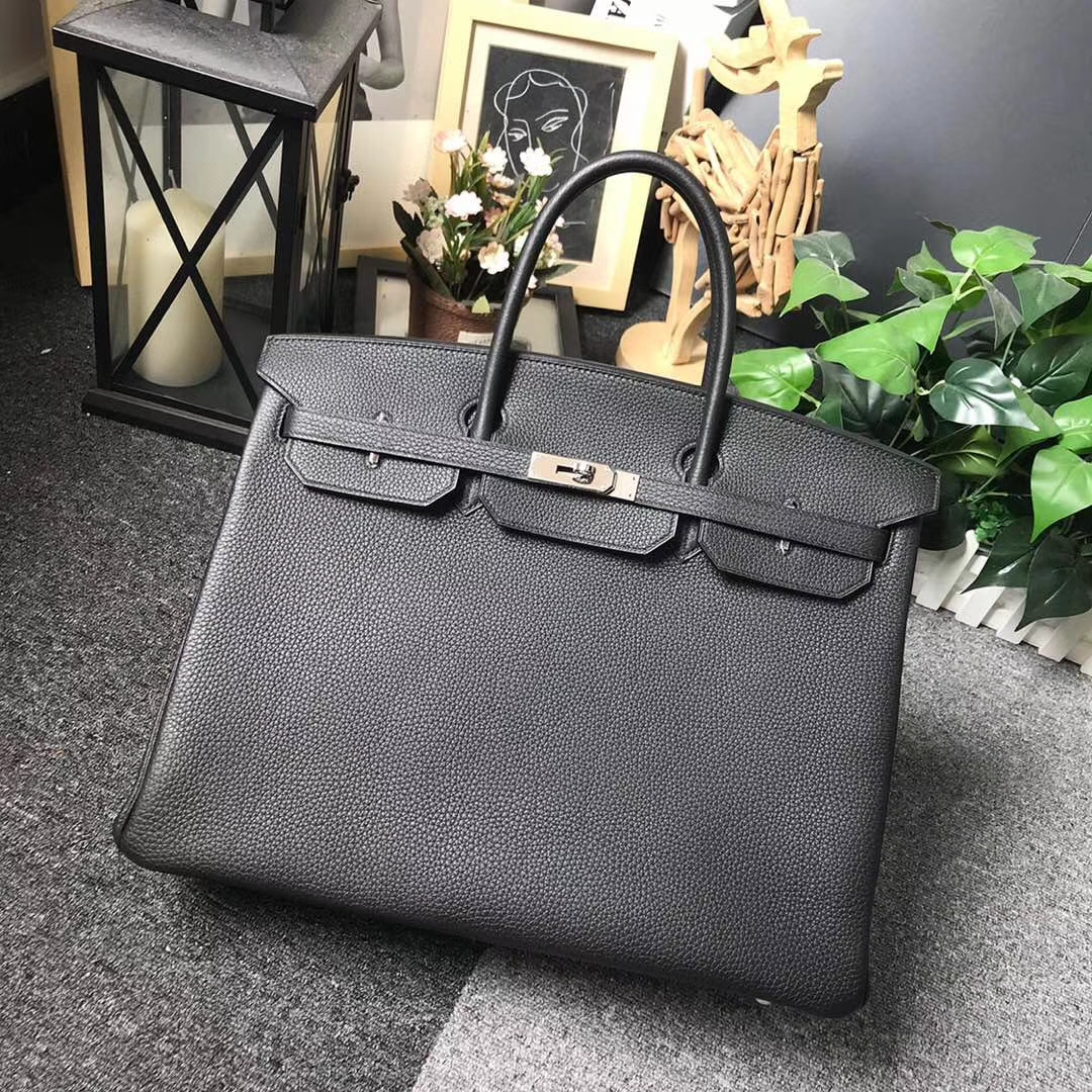 Hermès(爱马仕)CK89 黑色 原厂御用顶级小牛皮 Birkin 40 银扣 现货