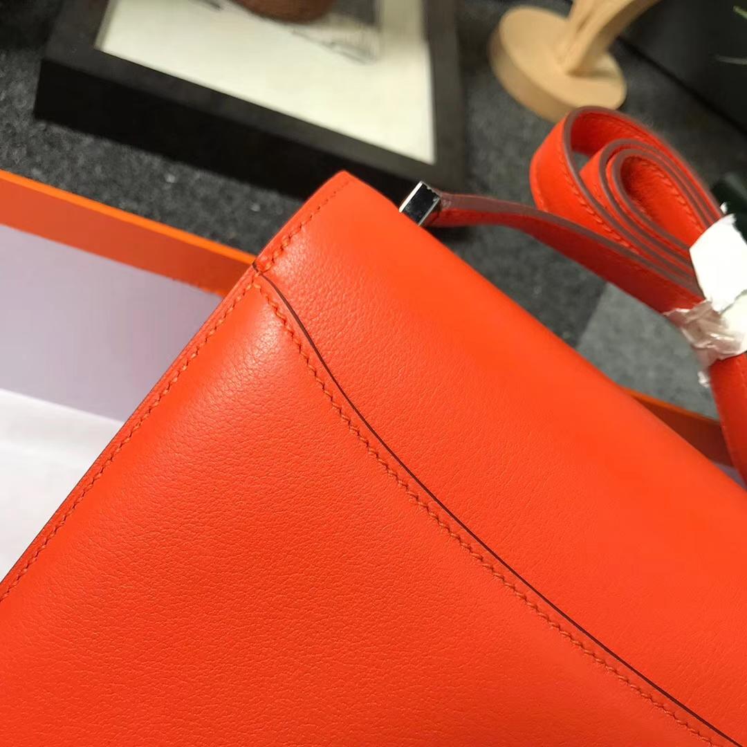 Hermès(爱马仕)93 经典橙色 原厂御用顶级Ever Color皮 2002-20 现货