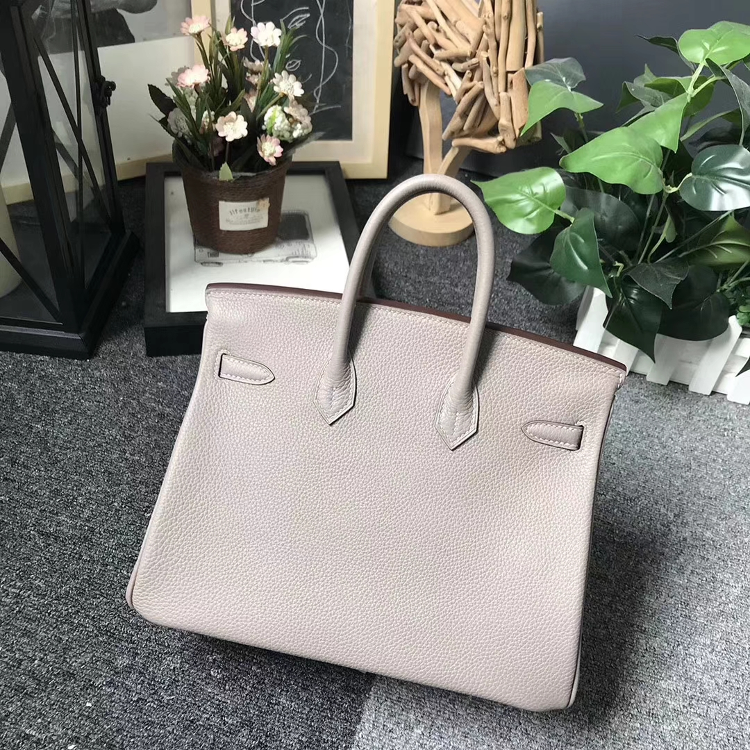 Hermès(爱马仕)M8 沥青灰 原厂御用顶级小牛皮 Birkin 25 金扣 现货