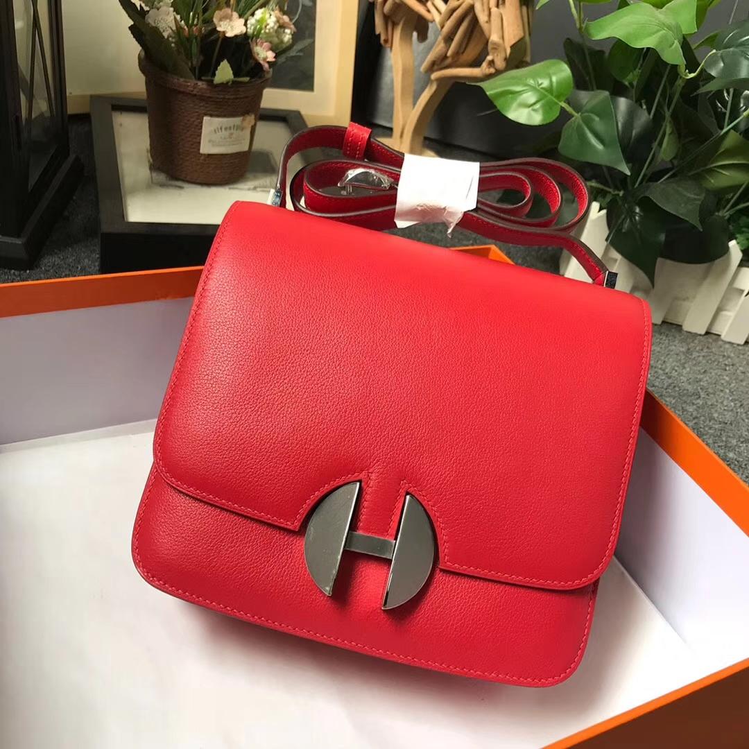Hermès(爱马仕)Q5 中国红 原厂御用顶级Ever Color皮 2002-20 现货