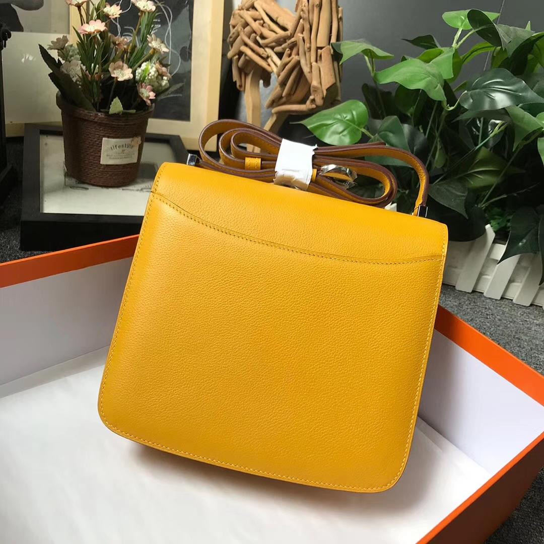 Hermès(爱马仕)9D琥珀黄 原厂御用顶级Ever Color皮 2002-20 现货 20cm