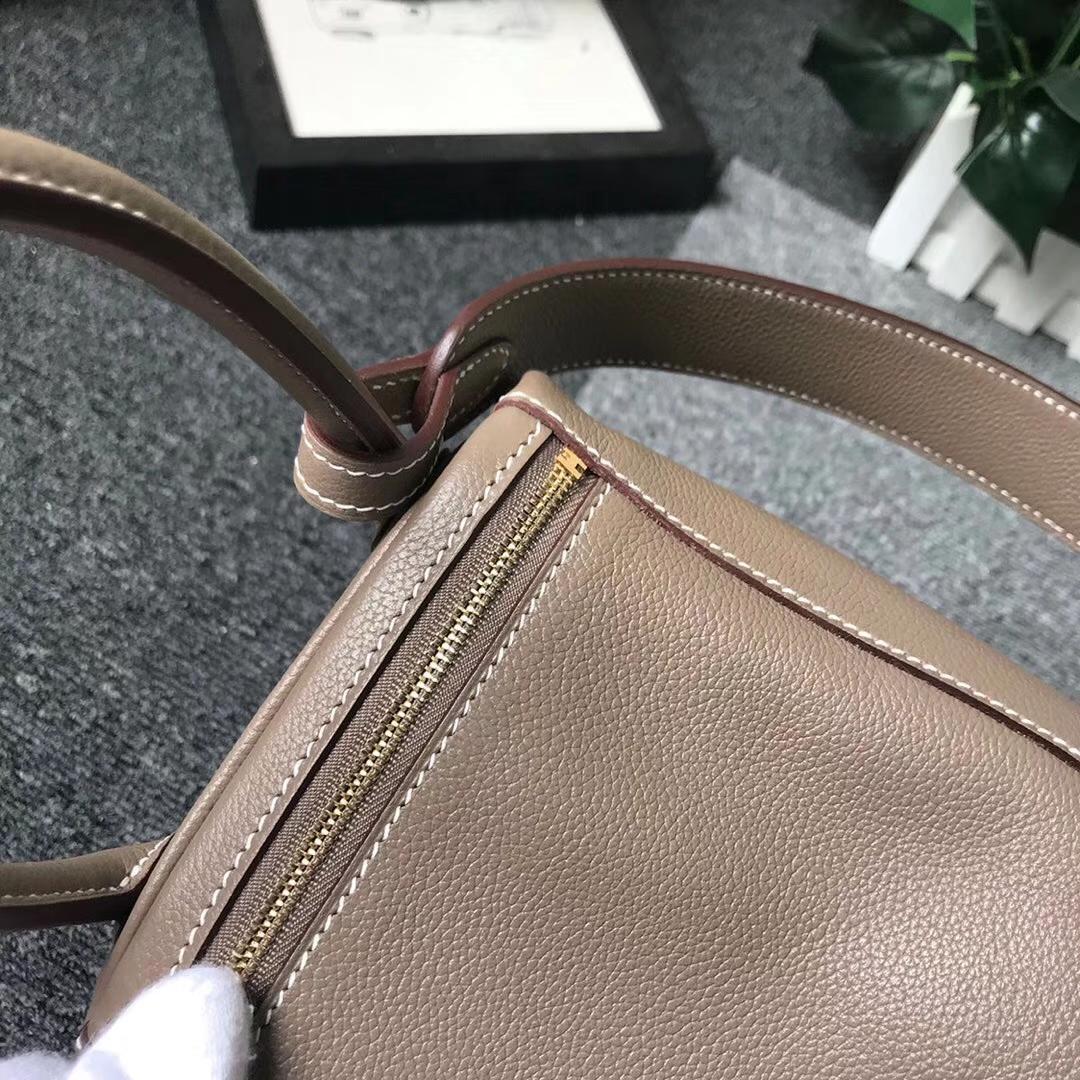 Hermès(爱马仕)CK18 大象灰 原厂御用顶级ever color 皮 Lindy 26 金扣